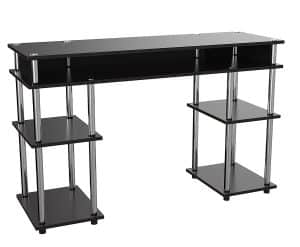 Convenience Concepts Modern No Tools Student Desk, Black
